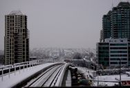 Snow covered tracks