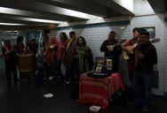 Band in Paris Metro station