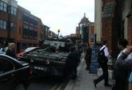 I told you there was a tank opposite the pub I had a drink in on Friday after work, but did you believe me?