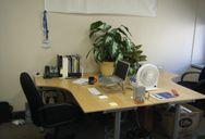 Old office, old desk, back again.