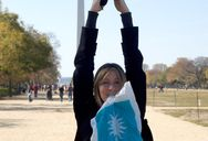 Nat, doing her impression of the Washington Memorial