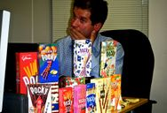 Boss, surrounded by Pocky