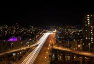 30 seconds of Granville St Bridge at 9:30 at night.
